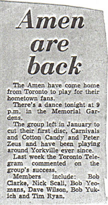Amen are back clipping
