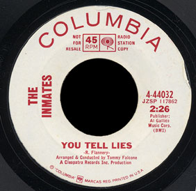 Inmates Columbia 45 You Tell Lies
