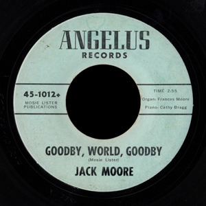 Jack Moore - the only Angelus record I've seen with a different label design