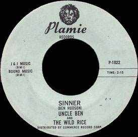 Uncle Ben and the Wild Rice Plamie 45 Sinner