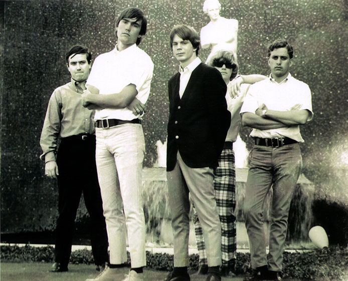 The Briks, left-right: Mike Meroney, Cecil Cotten, Richard Borgens, Lee Hardesty and Steve Martin