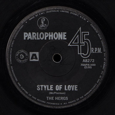Hergs Parlophone 45 Style of Love