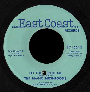 The Magic Mushrooms East Coast 45 Let the Rain Be Me