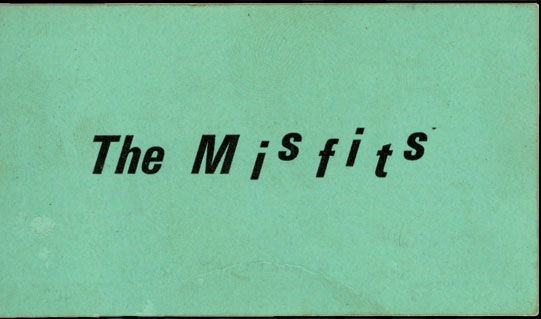 The Misfits business card