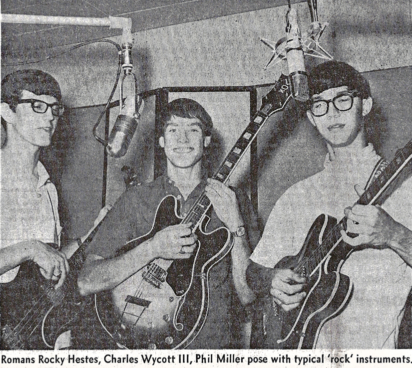 The Romans, 1966: Rocky Hestes, Charles Wycott III, Phil Miller