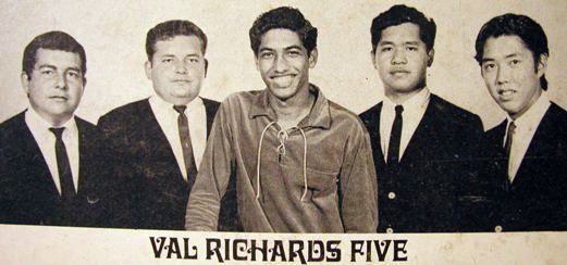 Val Richards Five: Vernon Colon, Russell Colon, Val Richards, Randall Yuen and Colin Ogawa