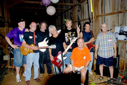 Dagenites 2008 reunion, l to r: Roger Fallin, Bruce Kennett, John Bardi, Geoff Robinson, Jimmy Musgrove, Julian (Lenny) Bardi, and Gus Perrotta; and in front Kenny McConkey