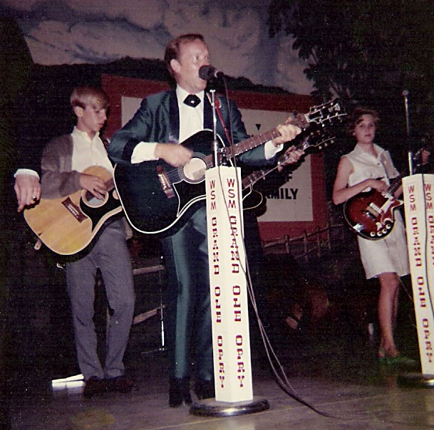 Charlie Louvin with Jean playing bass, Grand Ole Opry, Ryman Auditorium, Nashville