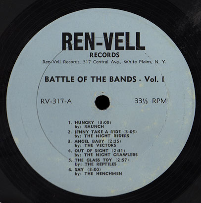 Ren-Vell Records Battle of the Bands vol. 1 LP Side A
