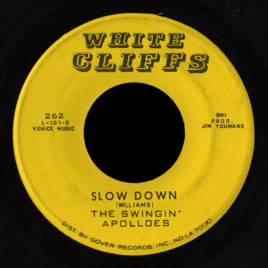 Swingin' Apolloes White Cliffs 45 Slow Down