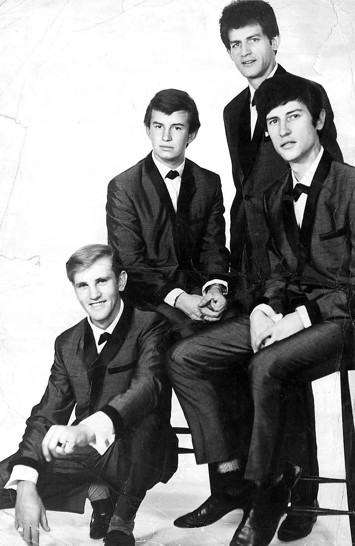 The falling leaves 1965 leib brews george mccauley on chair hank