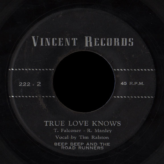 Beep Beep and the Road Runners Vincent 45 True Love Knows