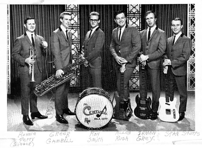 The Centuries six-man lineup with Ron Petty, September 1965.