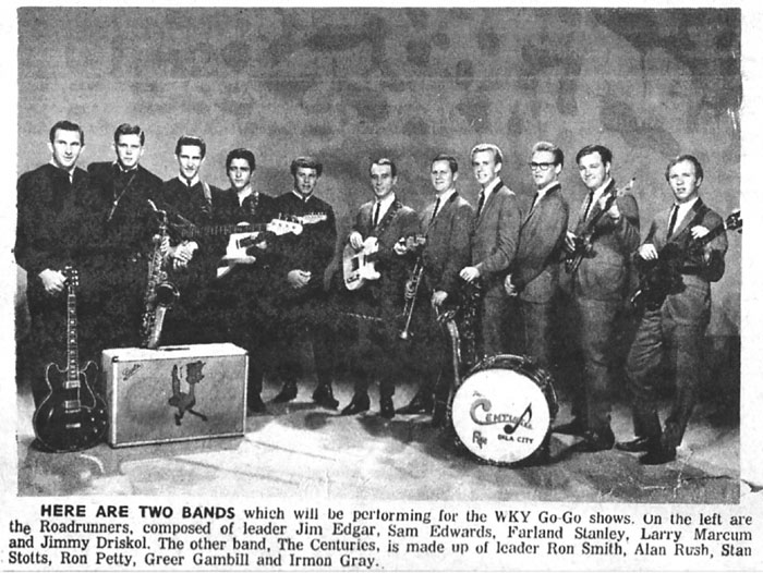 The Centuries with Jim Edgar and the Road Runners, WKY Go Go Show, September 1965