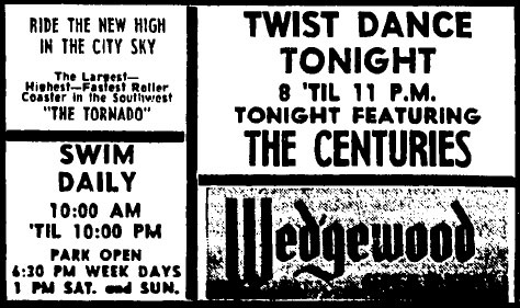 Ad for the Centuries at the Wedgewood, July 24, 1963
