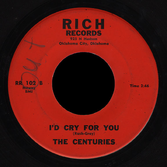 Centuries Rich Records 45 I'd Cry for You