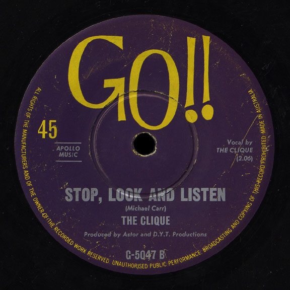 Clique Go 45 Stop Look and Listen
