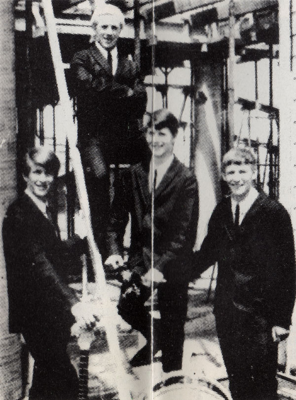 The Cresendos, from left: Graham Johnston, Ian Irvine, Max Johnston and Bryan Stewart