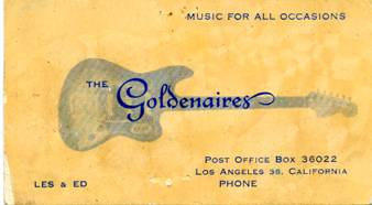 Goldenaires business card