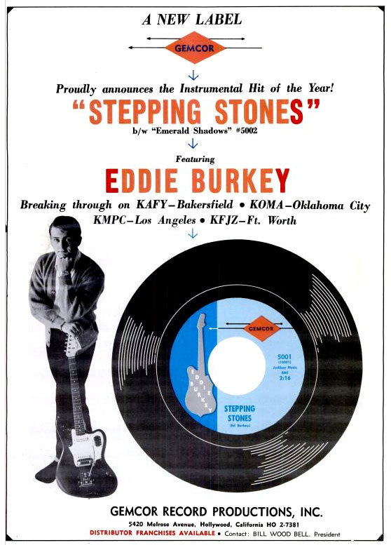 Eddie Burkey in Billboard, July 17, 1965