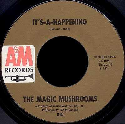 The Magic Mushrooms A&M 45 It's-a-Happening