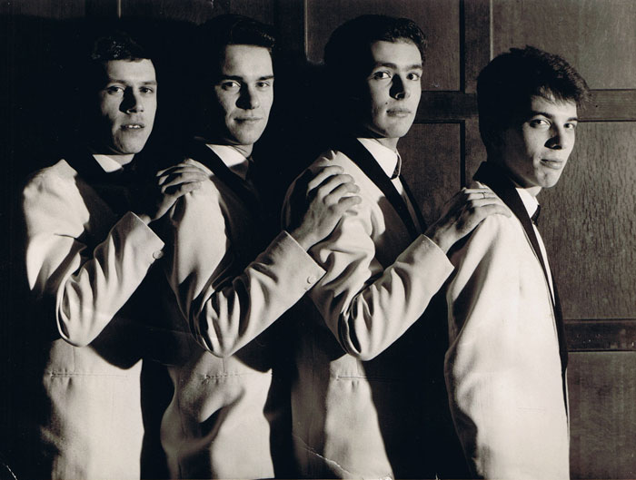 The Monotones at the Elms, 1964: Pete Stanley, Brian Alexander, Jim Eaton and Gary Nichols
