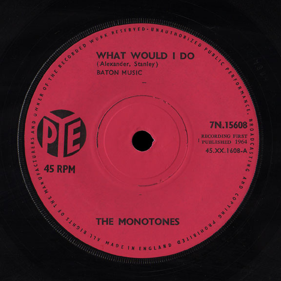 Monotones Pye 45 What Would I Do