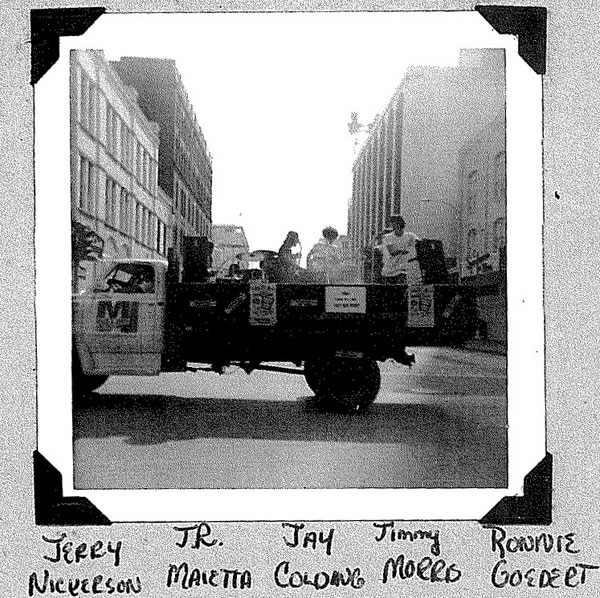 Last known photo of the Rovin' Flames, Soap Box Derby Parade, July 13, 1968