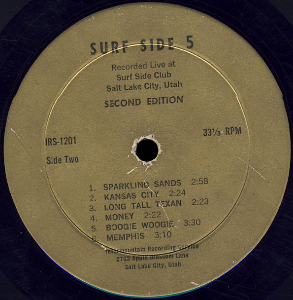 Surf Side 5 LP Recorded Live Side B