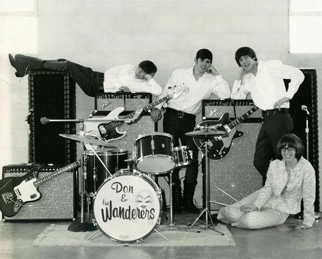 As a quartet: Don Thompson, Steve Connor on bass, Bob Thompson now on rhythm guitar, and Janet Sinclair.
