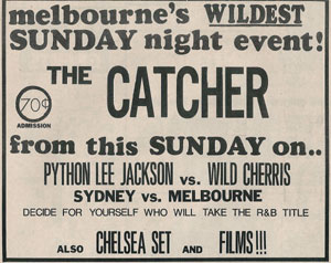 Wild Cherries and Python Lee Jackson at the Catcher in Melbourne