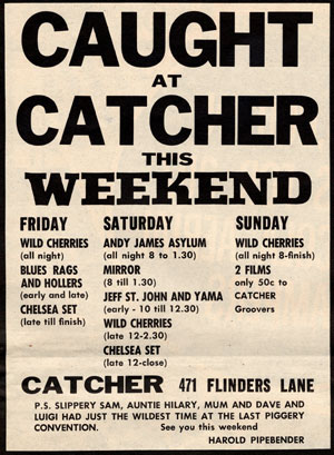 The Catcher club Melbourne December 1967 band lineup