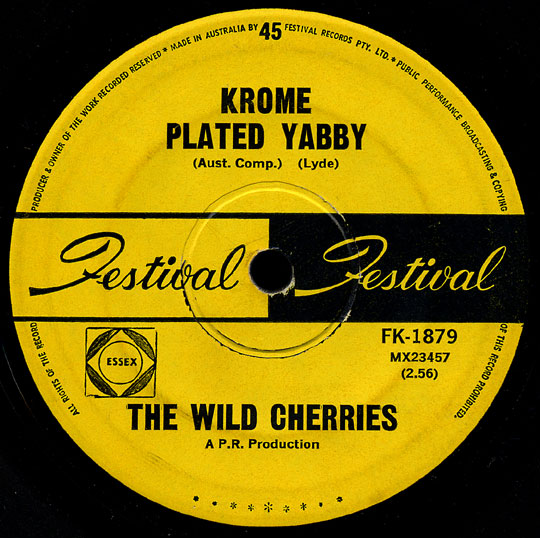Wild Cherries Festival 45 Krome Plated Yabby