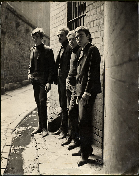 The Wild Cherries, 1965, left-right: Malcolm McGee, John Bastow, Les Gilbert and Keith Barber