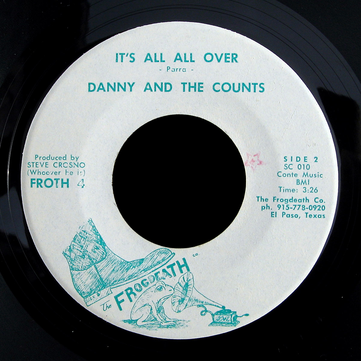 Danny and the Counts Frogdeath 45 It's All Over