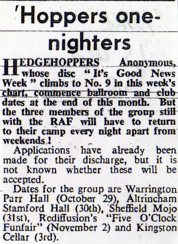 Hedgehoppers Anonymous Its Good News Week Afraid Of Love