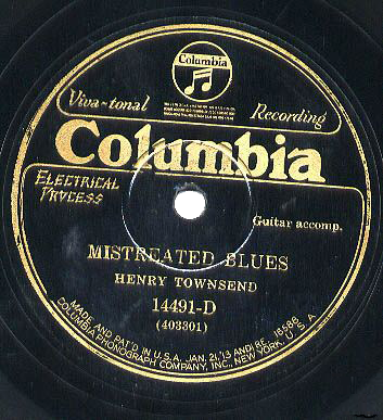 Henry Townsend Columbia 14491-D Mistreated Blues