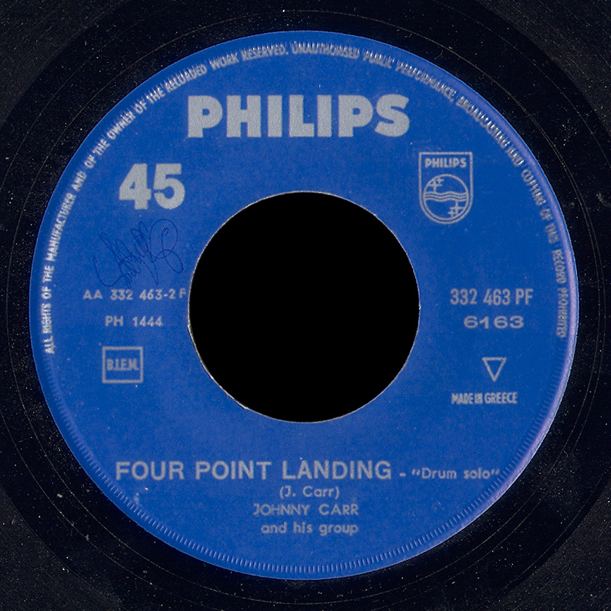 Johnny Carr and His Group Philips 45 Four Point Landing