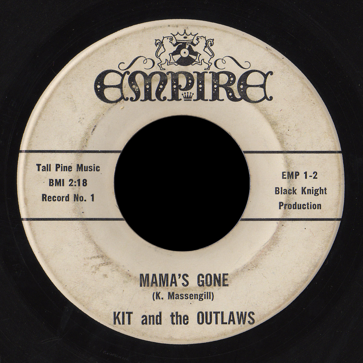 Kit and the Outlaws Empire 45 Mama's Gone