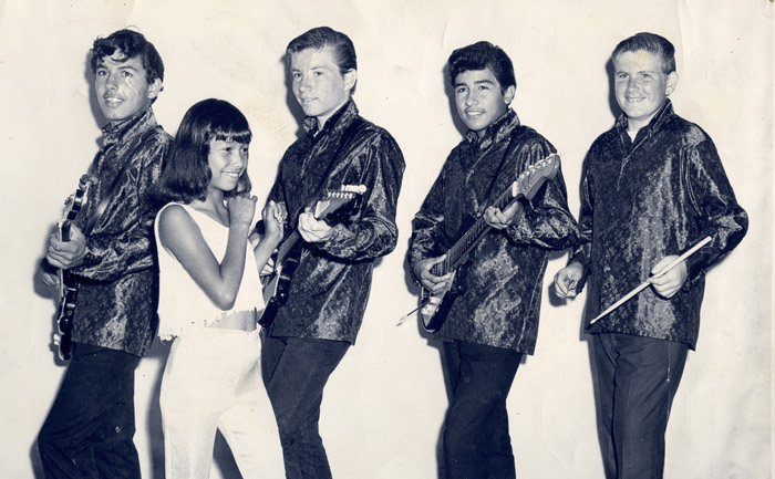 The Nite Walkers, 1965: Rich Hernandez, Joe Stoddard, Ray Almonza and Robert Stoddard