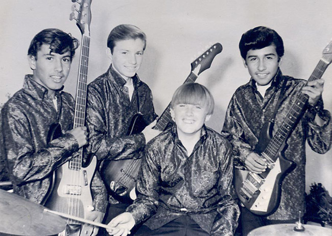 The Nite Walkers, 1966. From left: Rich Hernandez, Joe Stoddard, Rob Stoddard and Ray Almonza