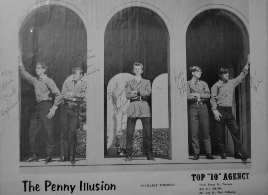 The Penny Illusion, from left: Bob Lightheart, Ron Bovine, Evan Hunt, Jeff Burgess, André Germain