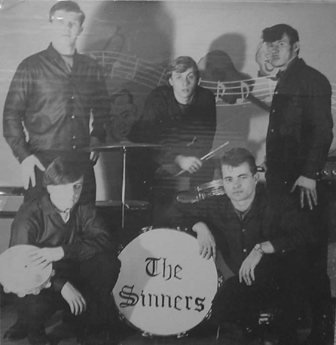 The Sinners, clockwise from top left: Al Bartok, Mike Weaver, André Germain, Jack Schaefer and Ritchie Gauthier