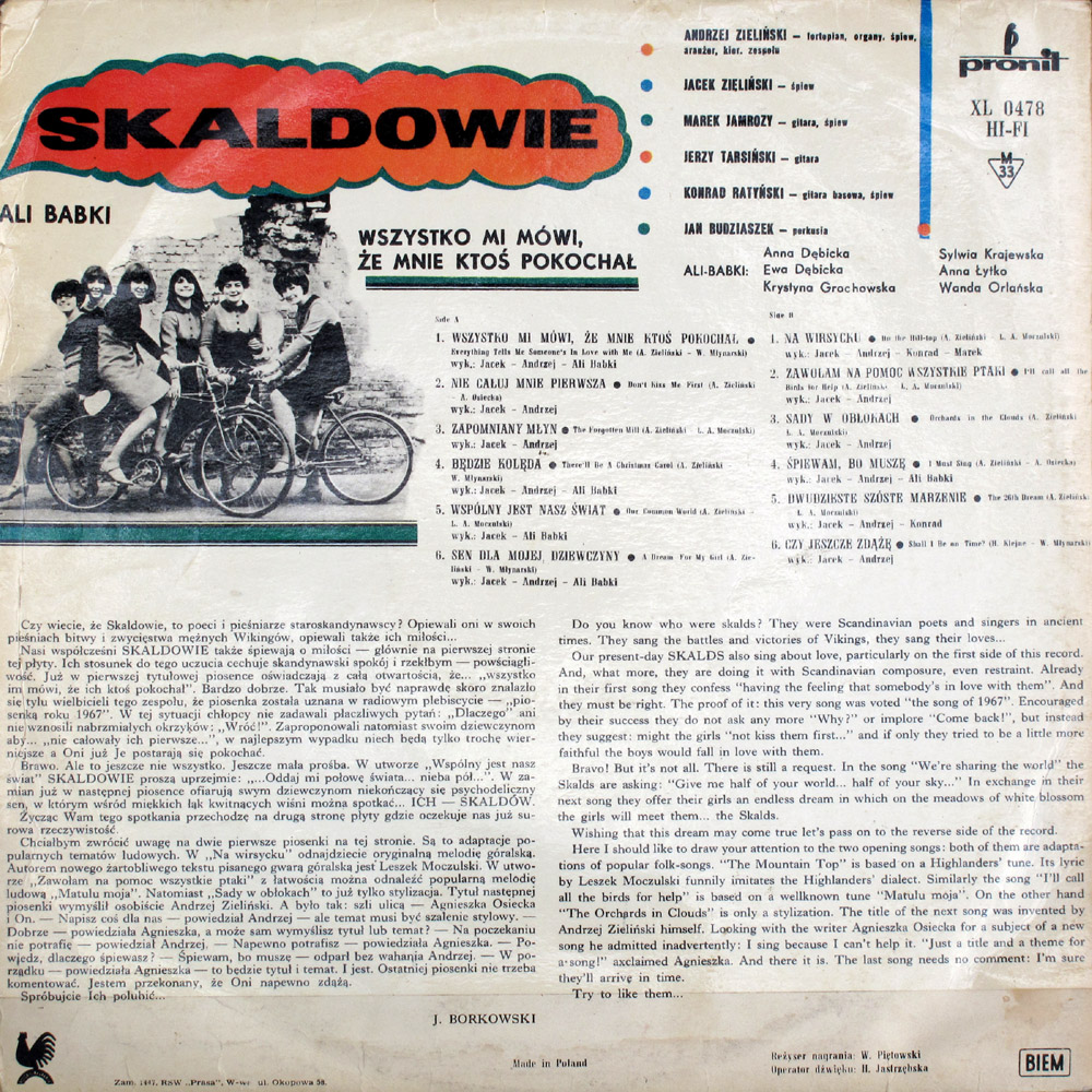 Skaldowie Pronit LP Back
