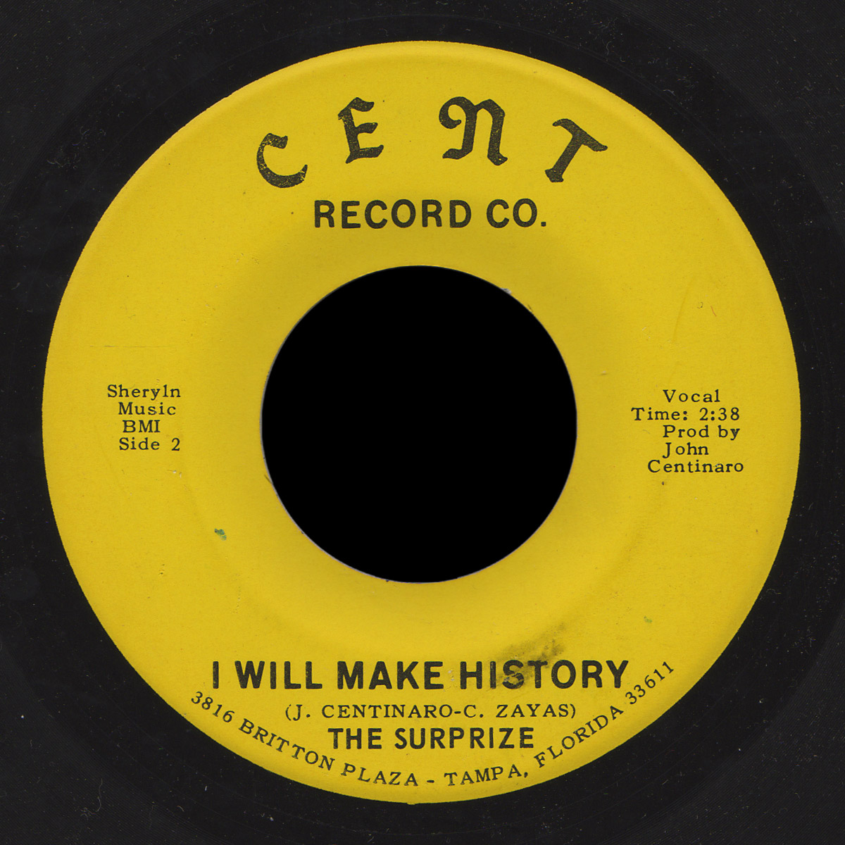 The Surprize Cent 45 I Will Make History