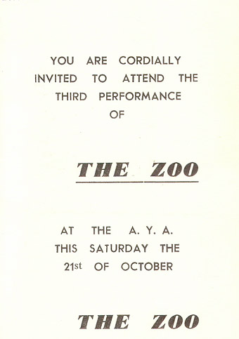 The Zoo invitation