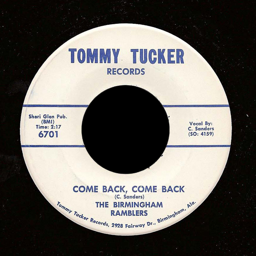 Birmingham Ramblers Tommy Tucker 45 Come Back, Come Back