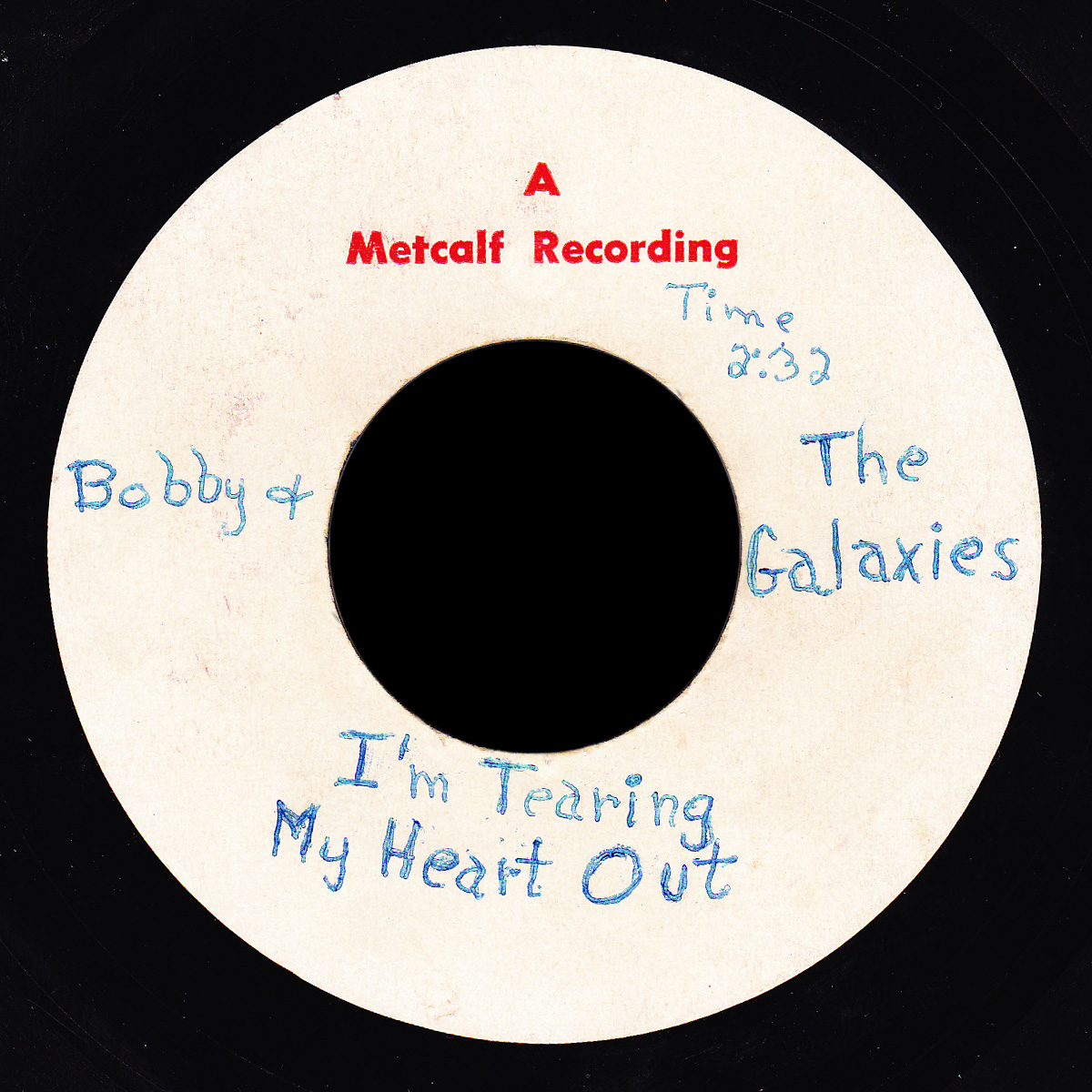 Bobby & the Galaxies Metcalf Recording demo I'm Tearing My Heart Out