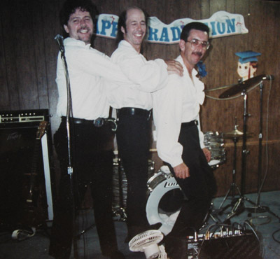1992 reunion: Don Bevers, Ken Loftis and George Falcone