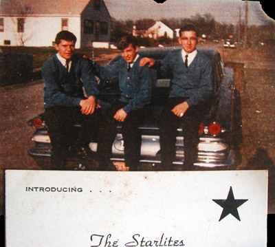 The Starlites, from left: Don Bevers, Ken Loftis and George Falcone